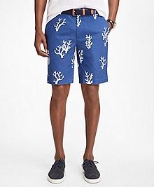Coral Print Bermuda Shorts