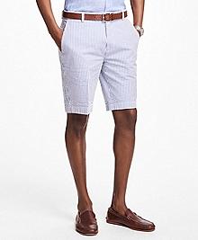 Classic Stripe Seersucker Bermuda Shorts