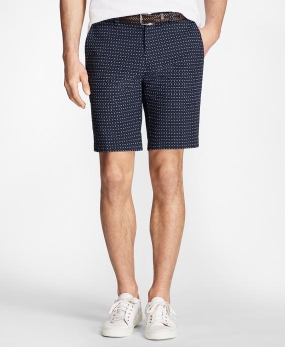 Foulard Print Bermuda Shorts Navy