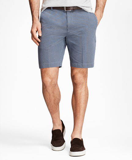 Chambray Gingham Shorts