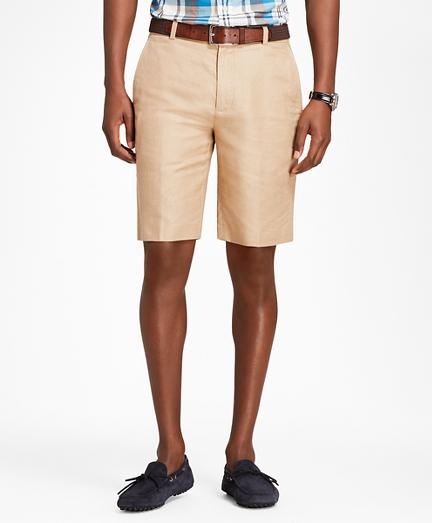 Linen and Cotton Bermuda Shorts