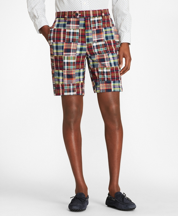 Patchwork Madras Shorts Multi