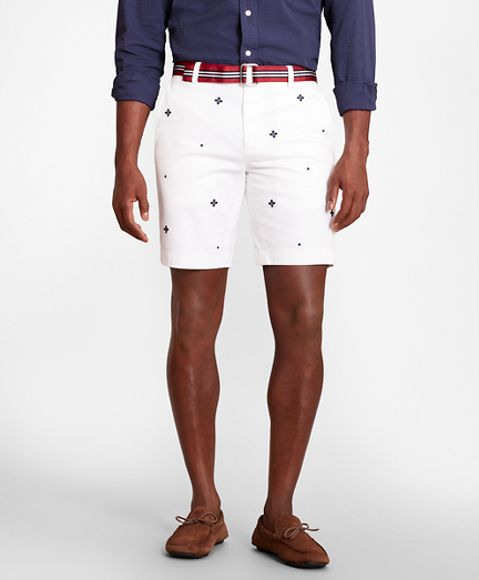 Foulard Embroidered Shorts