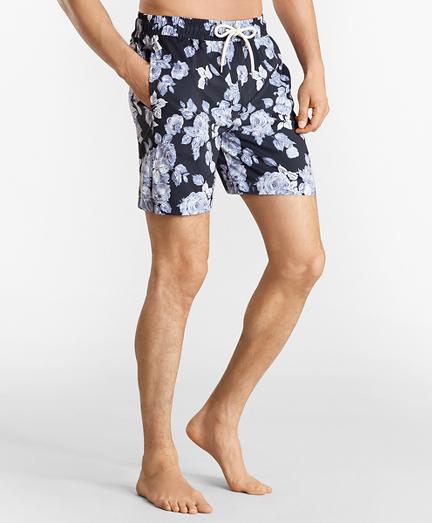 "Montauk 6"" Floral Print Swim Trunks"