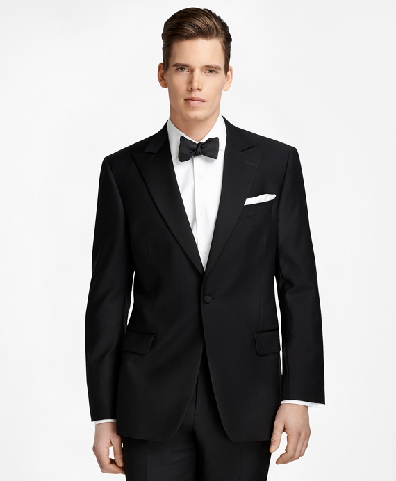 Regent Fit One-Button Peak Lapel Tuxedo Black