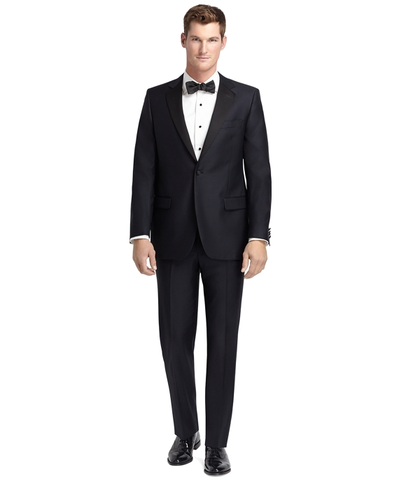 1920s Mens Evening Wear Step By Step Fitzgerald Navy Tuxedo $1,198.00 AT vintagedancer.com