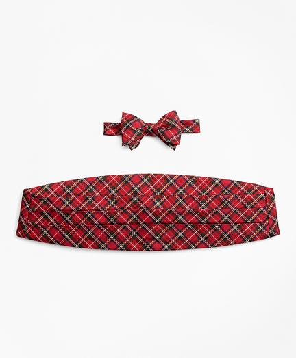Stewart Tartan Bow Tie and Cummerbund Set