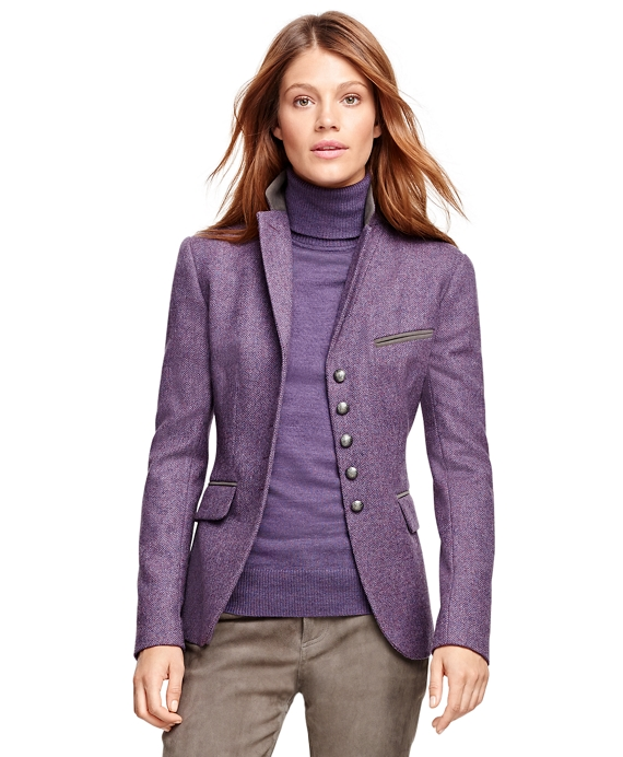Petite Stellita Fit Lambswool Herringbone Jacket