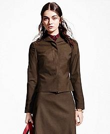 Petite Pick-Stitched Wool-Blend Jacket