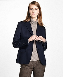 Petite Loro Piana® Two-Button Cashmere Blazer