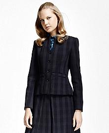 Petite Plaid Corded Suit Jacket