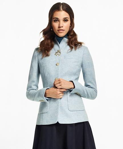 Petite Herringbone Wool Jacket
