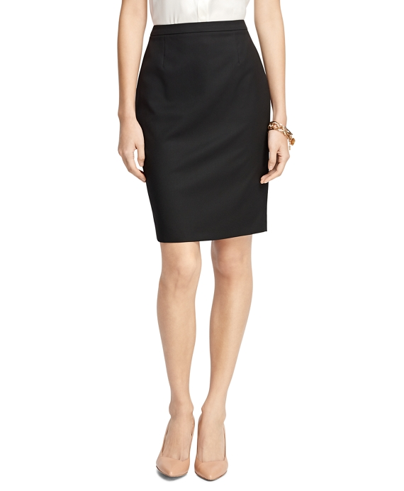 Petite Wool Pencil Skirt Black