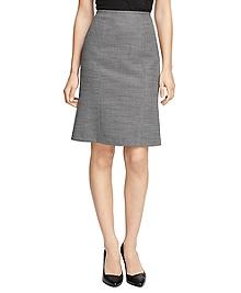 Petite Wool Bird's-Eye Pencil Skirt