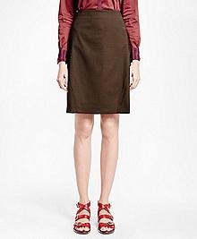 Petite Pick-Stitched A-Line Skirt