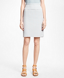 Petite Positive-Negative Pastel Polka Dot A-Line Skirt