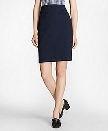 Petite Stretch Cotton Jacquard Skirt