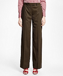 Petite Painted-Button Wool Trousers