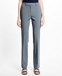 Petite Flat-Front Stretch Trousers