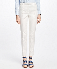 Petite Stretch Cotton Twill Pants