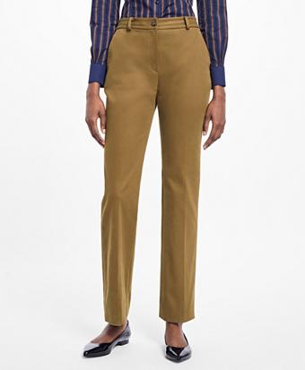 Petite Stretch-Cotton Twill Pants