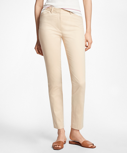 Petite Stretch-Cotton Twill Pants