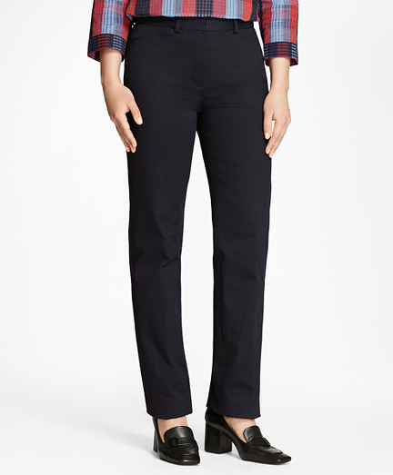 Petite Stretch Cotton Twill Pants