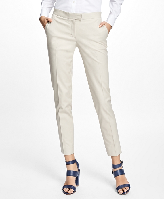 Petite Flat-Front Stretch Advantage Chinos® Stone