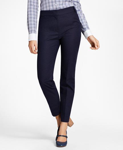 Petite Slim-Fit Diamond Jacquard Ankle Pants