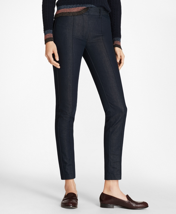 Petite Denim Ankle Pants Dark Blue