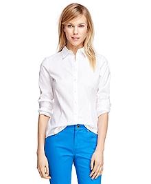 Petite Tailored Fit Cotton Dress Shirt