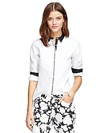 Petite Non-Iron Tailored Fit Supima® Oxford Dress Shirt