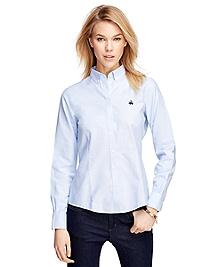 Petite Non-Iron Tailored Fit Supima® Cotton Dress Shirt