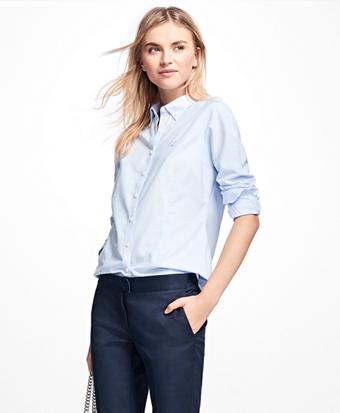 Petite Non-Iron Tailored-Fit Supima® Cotton Dress Shirt
