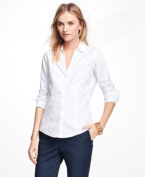 Petite Non-Iron Fitted Dress Shirt