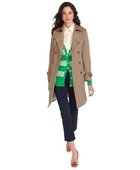 Women's Petite Cotton Khaki Trench Coat | Brooks Brothers