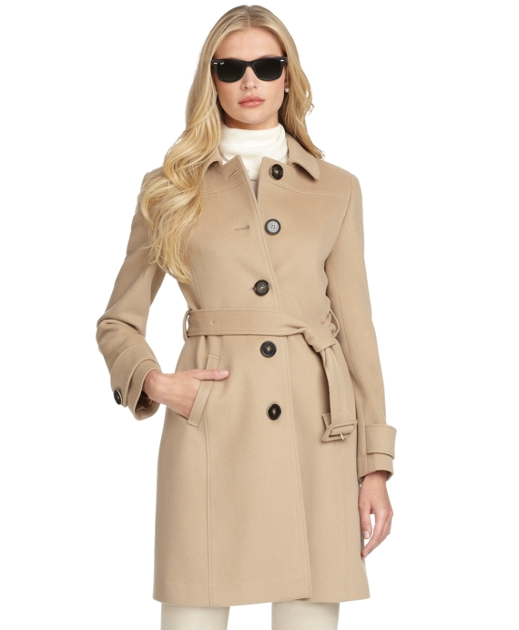 Petite Wool Belted Coat - Brooks Brothers