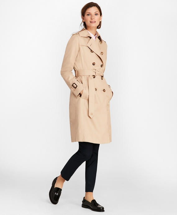 Petite Double-Breasted Trench Coat