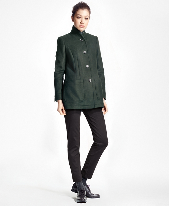 Petite Double-Faced Wool-Cashmere Coat Dark Green