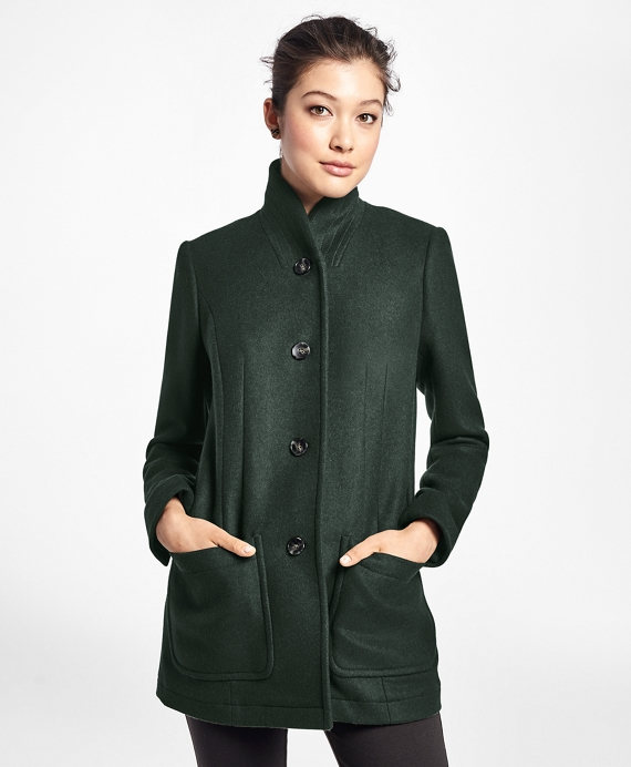 Petite Double-Faced Wool-Cashmere Coat - Brooks Brothers