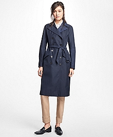 Petite Water-Resistant Double-Faced Twill Trench Coat