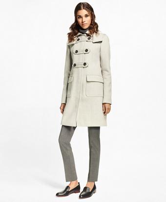 Petite Wool-Cashmere Duffle Coat