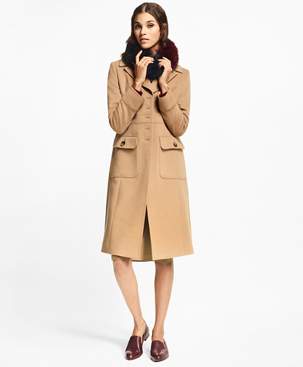 Petite Camel Hair Polo Coat