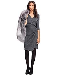 Petite Wool Blend Dress