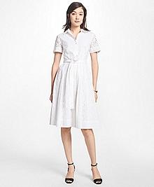 Petite Cotton Eyelet Shirt Dress