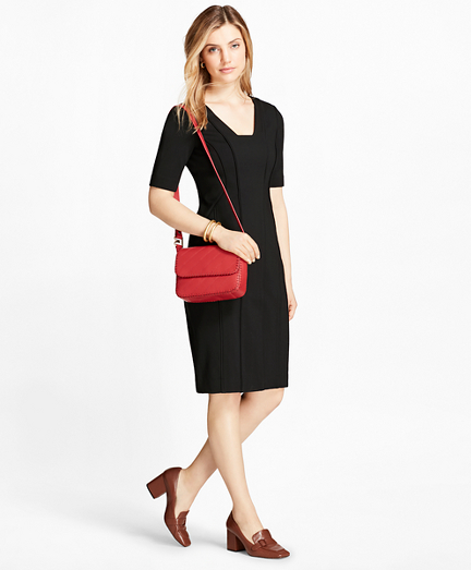 Petite Ponte Sheath Dress
