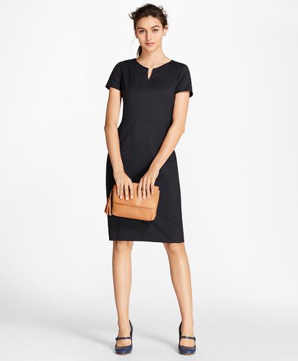 Petite Wool Sheath Dress