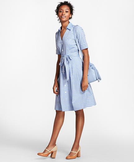 Petite Gingham Cotton Shirt Dress