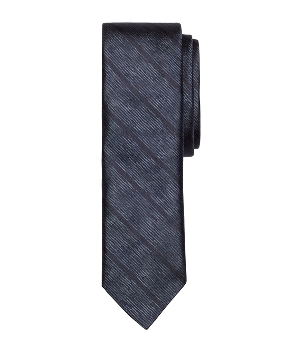 Melange Skinny Stripe Slim Tie Navy