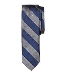 Melange Bold Stripe Slim Tie